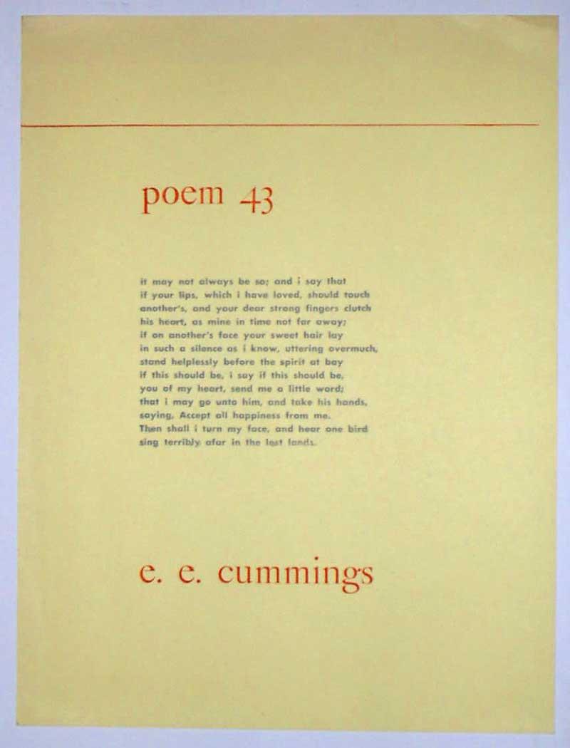 ee cummings essays poetry